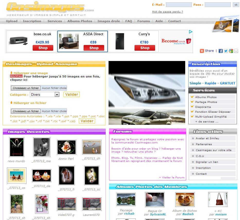 3 sites gratuits d 39 h bergement d 39 images h bergeurs de photos. Black Bedroom Furniture Sets. Home Design Ideas