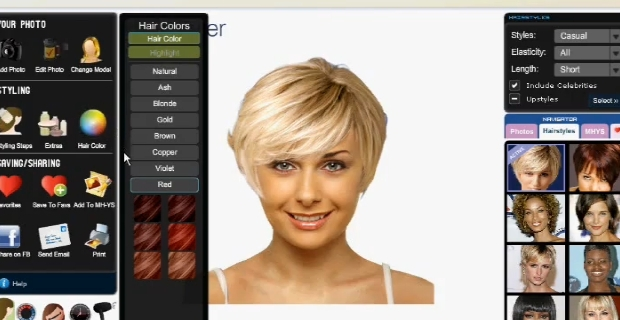 Application coloration cheveux long