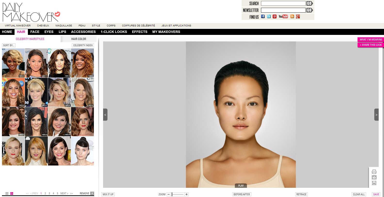 Logiciels gratuit pour coupe de cheveux virtuel relooking virtuel - Relooking avec photo ...