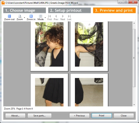 comment transformer une photo en poster g ant 3 logiciels gratuits. Black Bedroom Furniture Sets. Home Design Ideas
